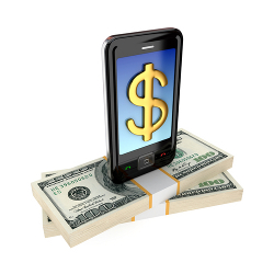 Mobile phone payments courtesy of Shutterstock
