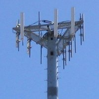 Public domain photo of a cell tower