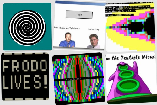 Collage of old visual viruses