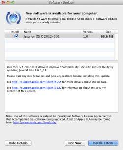 Apple update to Java 6 update 31