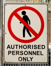 Authorised sign, courtesy of Shutterstock