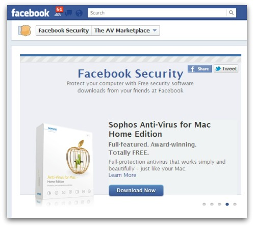 Facebook and Sophos