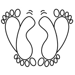 feet drawing 250