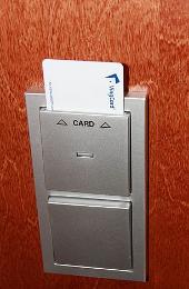 Key card in door