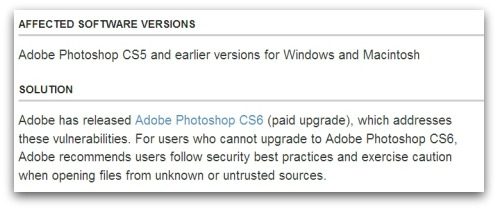 Adobe's advice - pay up