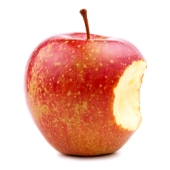 Apple bite image. Courtesy of Shutterstock