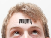 Barcode on forehead. Image courtesy of Shutterstock