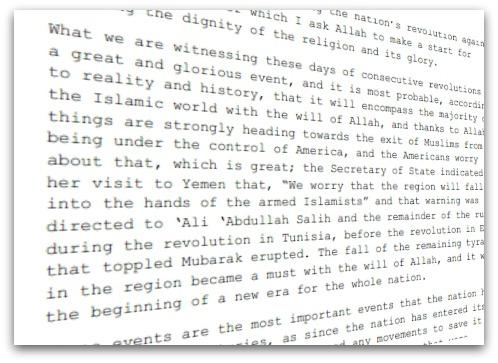 Letter from Bin Laden