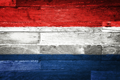 dutch flag on wood