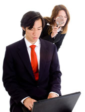 Employer spying, courtesy of Shutterstock