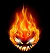 Evil flames. Image courtesy of Shutterstock