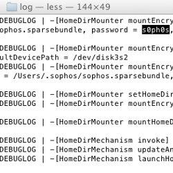 FileVault password in plain text