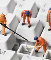 Keyboard workers. Image from Shutterstock
