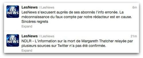 Les News apologises
