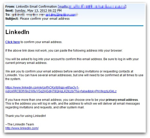LinkedIn spam campaign