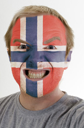 Norwegian face painting. Image from Shutterstock
