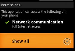 NotCom Trojan permissions