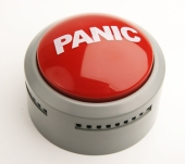 Panic button. Image from Shutterstock