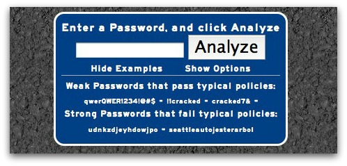 Password analyser