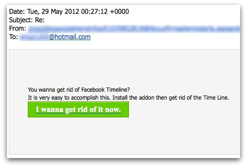 Remove Facebook Timeline spam