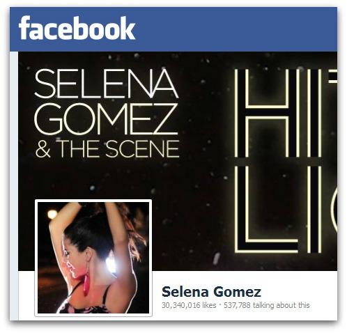 Selena Gomez's Facebook page