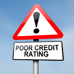 Poor Credit Rating image courtesy of Shutterstock