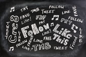 Social media blackboard, courtesy of Shutterstock