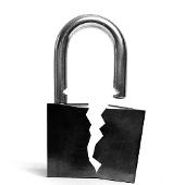 Broken padlock courtesy of Shutterstock