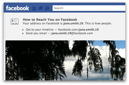 Facebook addresses matching Timeline address