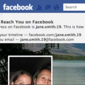 Facebook email address and URL