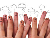 Social network fingers, courtesy of Shutterstock