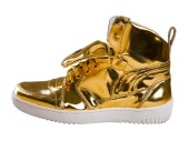 Gold sneakers, courtesy of Shutterstock