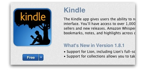 Amazon Kindle App in the Mac App Store