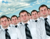 Cloned people. Image from Shutterstock