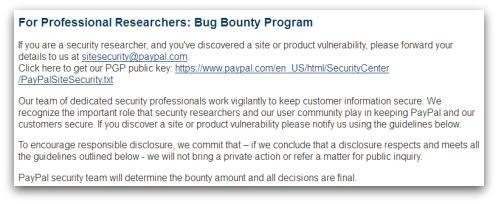 PayPal bounty