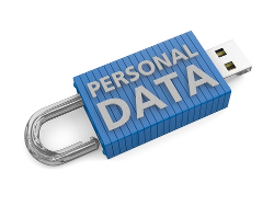 Shutterstock image of Personal Data key
