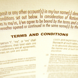 Terms and Conditions image courtesy of Shutterstock