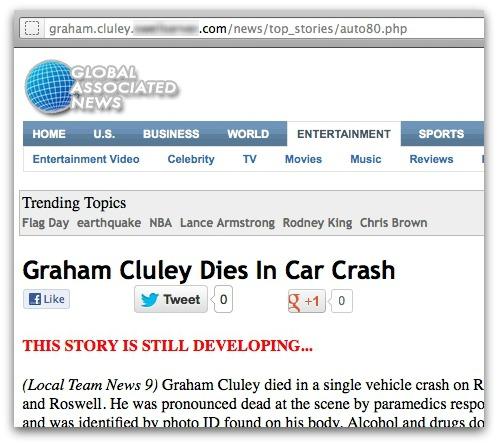 Graham Cluley death hoax