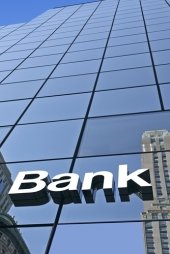 Bank sign. Image from Shutterstock