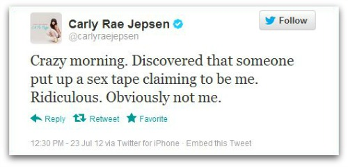 Carly Rae Jepsen Twitter account