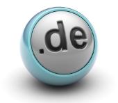 .de domain. Image from Shutterstock