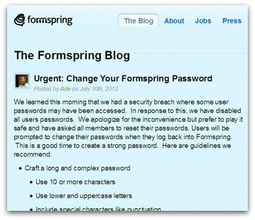 Formspring blog