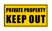 sign: Private: keep out