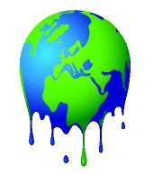 Melting earth. Image from Shutterstock