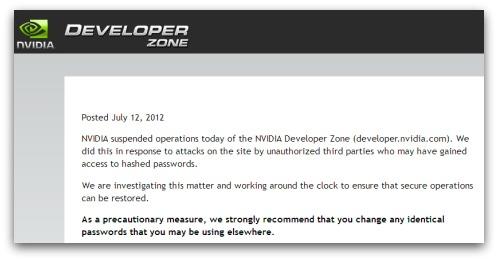 NVIDIA security breach warning