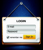 Login form. Image from Shutterstock