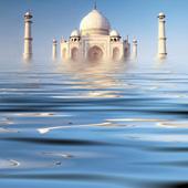Flooded Taj Mahal