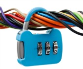 Cables and padlock, courtesy of Shutterstock