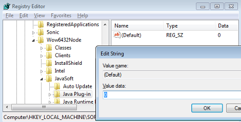 Disable Java Applets in IE
