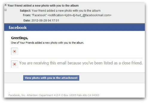 Facebook malware email. Click for larger version